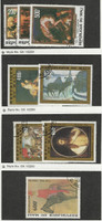 Mali, Postage Stamp, #C319-21, C410-1, C419-20, C434 Used, 1978-81 Art