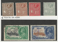 Malta, Postage Stamp, #167, 169, 170, 171 Mint Hinged, 184-5 Used, 1930-35