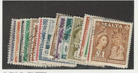 Malta, Postage Stamp, #246-262 Used Set of 17, 1956-1957