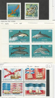 Marshall Islands, Postage Stamp, #57a, 194a, 182-3 Mint NH, Dolphin, Ship