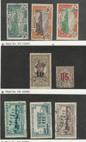 Martinique, Postage Stamp, #75, 80, 86, 106, 101, 162, 166,  168 Used, 1912-40
