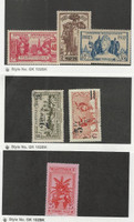 Martinique, Postage Stamp, #182-3, 185 Mint NH, J29 LH, 191, 193 Used, 1933-45