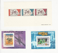 Mauritania, Postage Stamp, #C123a Mint NH, C159, C176 USed, 1972-76 Space