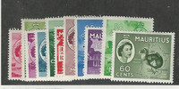 Mauritius, Postage Stamp, #251-261 Mint Hinged, 1953-54
