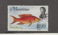 Mauritius, Postage Stamp, #356 Used, 1969 Fish High Value