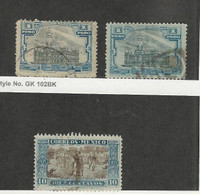 Mexico, Postage Stamp, #627, 627b, 632 Used, 1917-21