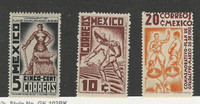 Mexico, Postage Stamp, #737-739 Mint NH, 1938