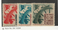 Mexico, Postage Stamp, #764-766 Mint NH, 1940 Ship Wheel