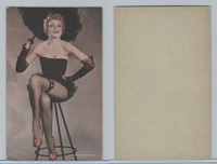 W Card, Exhibit, Showgirls & Pinups, 1960's, (C) On Stool