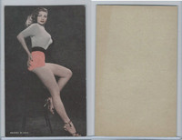 W Card, Exhibit, Showgirls & Pinups, 1960's, (E) Orange Shorts