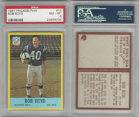 1967 Philadelphia Football, #15 Bob Boyd, Colts, PSA 8 NMMT
