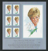 Micronesia, Postage Stamp, #273 Mint NH Sheet, 1997 Princess Diana