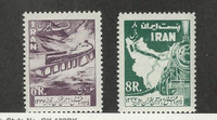 Middle East, Postage Stamp, #1103-1104 Mint LH, 1958 Trains