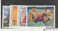 Monaco, Postage Stamp, #1242-1245 Mint NH, 1980 Art