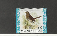 Montserrat, Postage Stamp, #243A Mint LH, 1970 Bird, Forest Thrush