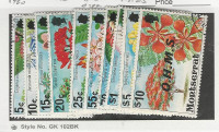 Montserrat, Postage Stamp, #O30//O44 Used (10 Different), 1980 Flowers