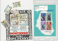 Montserrat, Postage Stamp, #358a, 406-409a Mint NH Sets & Sheets, 1976-79