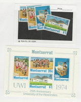 Montserrat, Postage Stamp, #302-305a Mint NH Set & Sheet, 1974