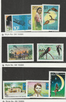Nauru, Postage Stamp, #86-87, 101-4 Mint Hinged, 105-7 NH, 1968-73