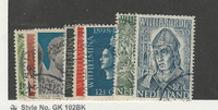 Netherlands, Postage Stamp, #206-213 Used, 1937-39