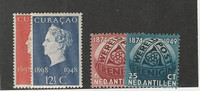Netherlands Antilles, Postage Stamp, #199-200, 206-207 Mint Hinged, 1948-49