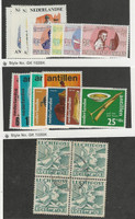 Netherlands Antilles, Postage Stamp, #B73//B112 Mint LH & NH, C4 Block Used