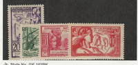 New Caledonia, Postage Stamp, #208-210, 212 Mint Hinged, 1937