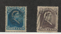 Newfoundland, Postage Stamp, #49, 52 Used, 1880-96 Queen Victoria