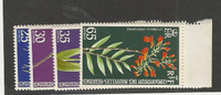 New Hebrides - French, Postage Stamp, #190-193 Mint NH, 1973 Flowers