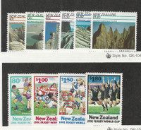 New Zealand, Postage Stamp, #1038-43, 1054-7 Mint NH, 1991 Soccer, Football