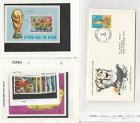 Niger, Postage Stamp, #417, 352-3, C269-72 USed Sheets, 447-9 FDC's WWF