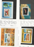 Niger, Postage Stamp, #C278 Mint NH Sheet, C286, C309, C287 Used, 1976-7