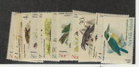 Norfolk Island, Postage Stamp, #126-140 Mint Hinged, 1970-71 Birds