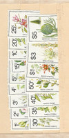 Norfolk Island, Postage Stamp, #323-338 Mint NH, 1984 Flowers (p)