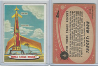 1967 Topps, Target Moon - Salmon Back, #6 Three Stage Rocket