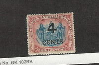 North Borneo, Postage Stamp, #96 Mint Hinged, 1904