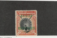 North Borneo, Postage Stamp, #109 Mint No Gum, 1901 Peacock
