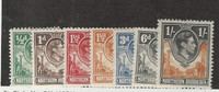 Northern Rhodesia, Postage Stamp, #25, 27, 29, 30, 34, 38, 40 Mint Hinged, 1938