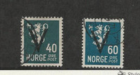 Norway, Postage Stamp, #217, 219 Used, 1941