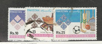 Pakistan, Postage Stamp, #782a-782c Used, 1992