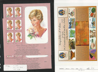 Palau, Postage Stamp, #440, 763 Mint NH Sheets, 1997-2004 Princess Diana
