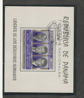 Panama, Postage Stamp, #C363a VF Used Sheet, 1968, Kennedy, ML King