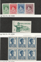 Papua New Guinea, Postage Stamp, #118-21 Mint Hinged, 161, 174 Block Mint NH