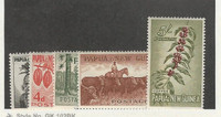 Papua New Guinea, Postage Stamp, #139-140, 142, 144, 146 Mint NH, 1961