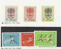 Papua New Guinea, Postage Stamp, #164-166, 171-173 Mint NH, 1962 Sports