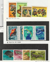 Papua New Guinea, Postage Stamp, #336-347 Mint NH, 1971-2 Animals, Flag