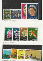 Papua New Guinea, Postage Stamp, #395-8, 402-9 Mint NH, 1973-75 Flower