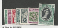 Pitcairn Islands, Postage Stamp, #1//20 (7 Different) Mint LH, 1940-57