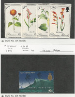 Pitcairn Islands, Postage Stamp, #110-113, 118 Mint NH, 1970-71 Flowers