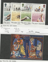 Pitcairn Islands, Postage Stamp, #315-318, 319 Mint NH, 1988 Christmas